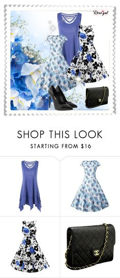 """""""Rosegal 35"""" by miincee ❤ liked on Polyvore featuring Chanel, Yves Saint Laurent and vintage"""