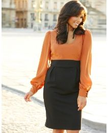 Color Block Dress at Simply Be