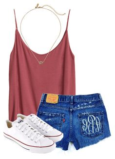 """read d"" by morgantaylor37 ❤ liked on Polyvore featuring H&M, Kate Spade and Converse"