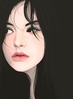 Digital Portrait Illustration by Yuschav Arly Vector Portrait, Digital Portrait, Portrait Art, Art Sketches, Art Drawings, Portrait Sketches, Drawing Faces, Cover Wattpad, Digital Art Girl
