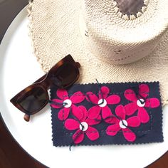 Little projects. Pretty pink daisy sunglass case kit.  Find me @ birdiebrown.com