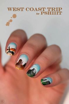 west coast nail art