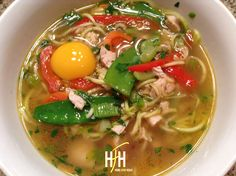 Let me just start with I made this last night for dinner and fell in love....so I made it again for lunch today and dinner tonight! I LOVE soup and since I grew up on Ramen noodles and love asian f...