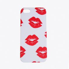 Lyla Loves Red Lips Phone Case, iPhone 5 ($17) ❤ liked on Polyvore featuring accessories, tech accessories e tech