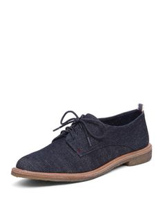 Lola Denim Lace-Up Oxford by ED by Ellen at Bergdorf Goodman.