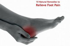"""Foot pain relief may be possible with some natural remedies. There are many you may not have heard of on this list...and most do not involve any kind of major expense (some are even free!). Check out this list and see if you can """"kick"""" your chronic foot pain."""
