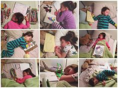 Give your child a coloring book before bed. This allows her to quietly remain in bed, unwind, and do something she enjoys until she falls asleep.