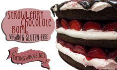 chocolate strawberry bomb cake.