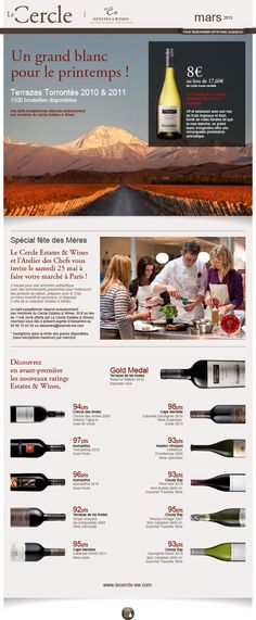 Le Cercle - Estate & Wines newsletter de mars 2013 Création FAT4