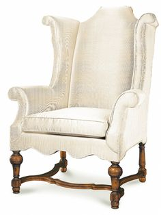 """Bradford Bergere Chair No: 502.059.02  36-3/4""""W x 37-1/4""""D  Bergere chair in primavera solids with stretcher and rolled arms.  COM requires 9 yards of plain fabric at 54""""  Available in 02 Frutal, 04 Dark Distressed, 08 Cognac, 31 Franz Mayer, and 36 Delawere (Walnut) finishes."""