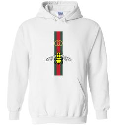 f2f740dbb nice Gucci Bee printed Unisex Hoodie Gucci Sweater Mens, Gucci Shirts Men, Gucci  Sweatshirt
