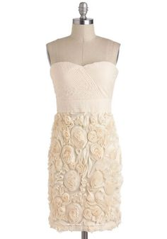 Vanilla Cream & Sugar dress from Mod Cloth. I'd love this as a wedding anniversary dinner dress since it looks so similar to my actual wedding dress :)