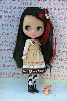 Little Forest Girl Dress for Blythe. Free postage.. $35.00, via Etsy.