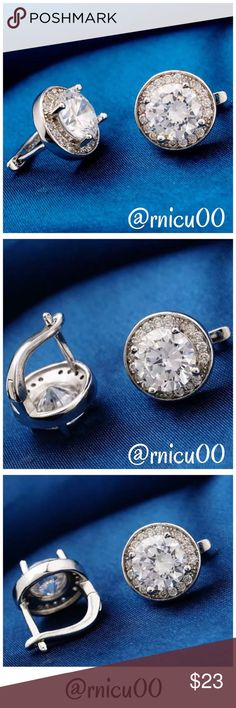 🆕18K Gold Clear CZ Round Radiant Stud Earrings! Gorgeous Round 18K White Gold Filled & AAA CZ, Round Stone, Round Stud Earrings! Solid Construction & Standout Style, perfect for any occasion!👌  -18K White Gold Filled*, Nickel & Lead FREE, Hypoallergenic  -Clear CZ Stones  *NO TRADES* *Priced at Lowest-NO Offers Please! *Sales are Final, Bundle for Discounts! Boutique Jewelry Earrings