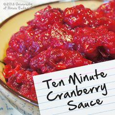 Recipes for Diabetes: Ten Minute Cranberry Sauce