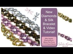 Best Seed Bead Jewelry  2017  Diamonds and Silk Bracelet Tutorial