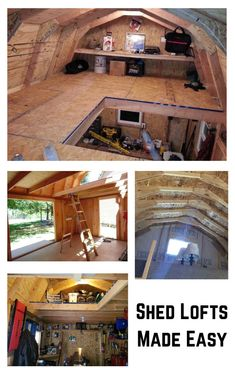 Sheds with lofts are so useful. The benefit of added extra storage, or a childrens playhouse are just a few of the things you can do with them. What's the best shed to build that offers the biggest shed loft? Learn more by visiting my link. Diy Storage Shed, Loft Storage, Built In Storage, Extra Storage, Storage Ideas, Man Cave Shed, Man Shed, Shed Building Plans, Shed Plans