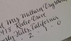 """Wedding Calligraphy -  Modern Hand Lettering on Your Envelopes """"Milburn"""". $20.00, via Etsy."""