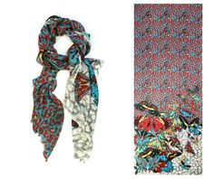 Astonishing printed scarves ever: so gorgeous you don't know whether to wear them or hang them on your wall
