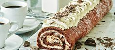 Tiramisukääretorttu Homemade Chocolate Bars, Chocolate Mint Cookies, Chocolate Truffles, Melting Chocolate, Paris Brest, Vanilla Frosting, Nutella, Banana Bread, Bakery