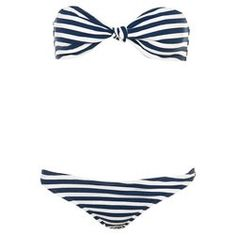 great navy and white stripe swimsuit. such a classic