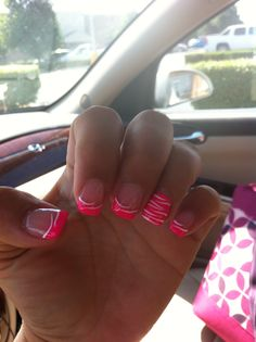 Love my nail design, just different color other than pink!!