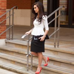 petite monochrome skirt and top