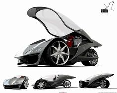 Here's the 3-D concept for a futurist vehicle