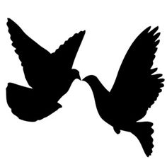 Kissing Doves Vinyl Wall Decal
