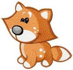 Tiny fox machine embroidery design. Machine embroidery design. www.embroideres.com