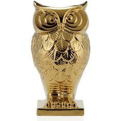"""Owl Vase - 13.5""""H ($12) ❤ liked on Polyvore featuring home, home decor, vases, decor, owl, vase, owl home decor, owl home accessories, ceramic owl vase and ceramic vase"""