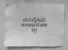 Fraktur alphabet. Khadi paper. Leonardt round nib. Stick ink. #calligraphy #lettering #art #fraktur #gothic #blackletter