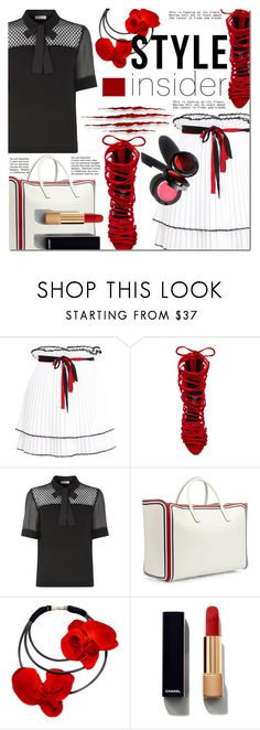 """Strapped In: Lace-Up Sandals"" by barbarela11 ❤ liked on Polyvore featuring Akep, Jeffrey Campbell, Sandro, Anya Hindmarch, Garance Doré and Chanel"