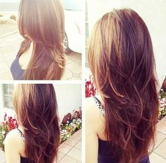 Layered Long Hairstyles for thick hair