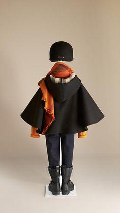 Capa de lana con forro de checks | Burberry