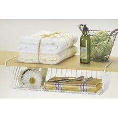 #8: Better Houseware 18740 Undershelf Basket, White