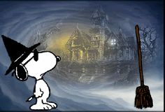 Super Cool Snoopy the Witch animated snoopy witch gif halloween happy halloween halloween pics