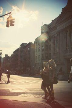 Blonde In New York.