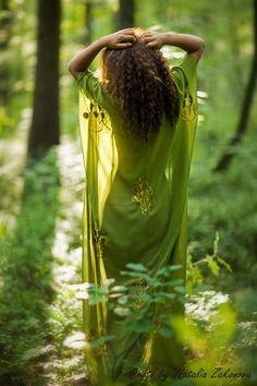 #dress #green #beautiful #nature