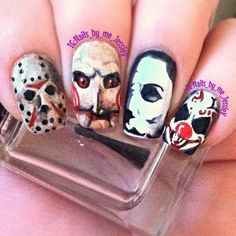 My friend made tried these nails on me and they turned out really good for Halloween!
