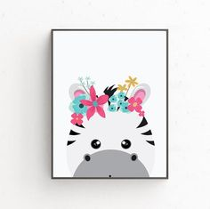 Zebra digital poster, Instant download Poster, Print wall art, Printable poster art, Illustration pr Zebra Illustration, Digital Wall, Nursery Wall Art, Printable Art, Wall Art Prints, Wall Decor, Etsy, Posters, Illustrations
