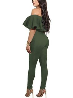 cf3552834d8c1 CoCo fashion Shoulder Sleeve Hollow Out Sexy Women Bodycon Long Jumpsuit  Rompers