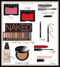 Every Day Make Up: Day-to-Night | The Shopping Mama. Great tips to easily take your make up from day to night.