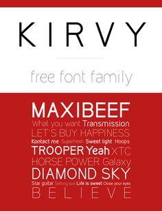 Kirvy – simple sans serif font. #typography