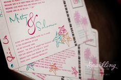 Starfish Boarding Pass Wedding Invitation  by SparklingEventDesign, $40.00