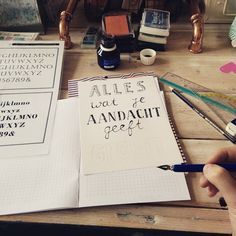 "@mieknox's photo: ""Workshop #handlettering op #seinfestijn"""