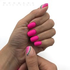 Make an original manicure for Valentine's Day - My Nails Nail Swag, Gelish Nails, Pink Nails, Short Nail Designs, Nail Art Designs, Cute Nails, Pretty Nails, Gel Nail Art, Nail Polish