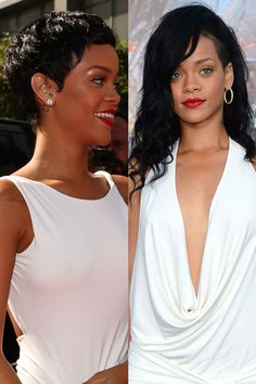 Rihanna    On September 7, the Where Have You Been singer revealed her newly cropped 'do -- a drastic departure from the long locks she'd been sporting all summer.