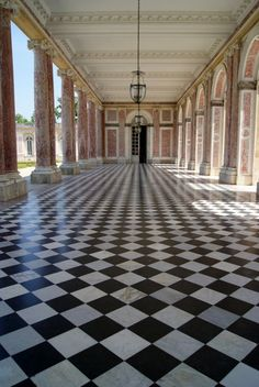 Breeze-way at le Petit Trianon, Marie's personal house on the grounds of Versailles. (We have the same taste in flooring, just sayin)