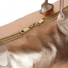 Mi-Pac Damen Reisetasche Metallic Weekender Rose Gold (rosa)
